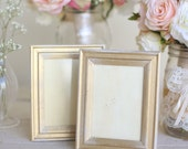 Distressed Gold Wedding Frames Shabby Chic Wedding by Morgann Hill Designs #MorgannHillDesigns #BraggingBags