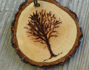 Wedding or Special Occasion Gift /Wood key chain/ Rustic/ Weddings / Men/ Women/ gift/ giftbag/ Tree of Life