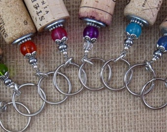 Wine Cork Jewelry, Wine Cork, Floating Keychain, Boater Keychain, Wedding Favors, Adult party favors, Swag Bag Stuffers, Stocking Stuffer