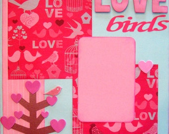 Scrapbook Layout Love Valentine Scrapbooking Page Kit Premade