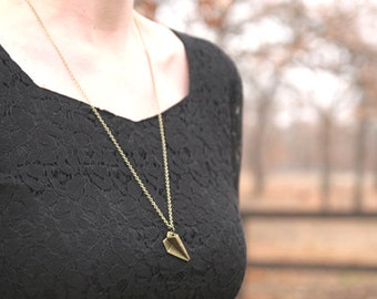 Paper Plane Necklace // Airplane Necklace // Bridesmaid Gifts // Flight Gift // Vintage Wedding