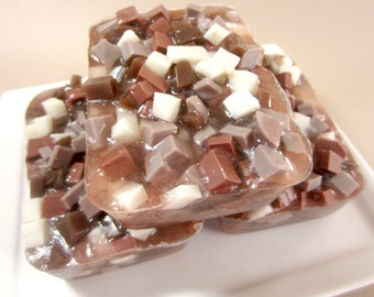 Hot Chocolate Soap - Cocoa Soap - Winter Soap, Soap for Kids, Marshmallow Soap, Dessert Soap, Autumn Soap, Chocolate Soap