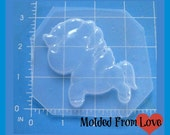 SALE Kawaii Little Unicorn   Flexible Plastic Handmade Resin Mold-