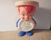 RESERVED FOR JOHN..........Vintage Speedy Alka-Seltzer Figure, Rubber, Free Shipping