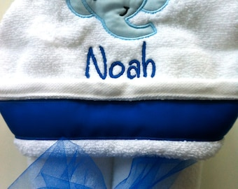 Elephant Personalized Hooded Towel---Other Towel Colors Available