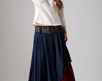 Long Skirt Boho-Skirts-Maxi Skirts-Maxi Skirt-Bohemian Skirt-Skirt-Long Maxi Skirt,Maxi Skirts Long-Maxi Skirt Pockets,Women Skirts, 869
