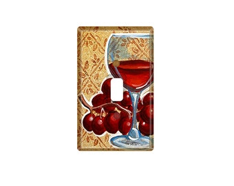 Wine and Grapes Decor Light Switch Cover
