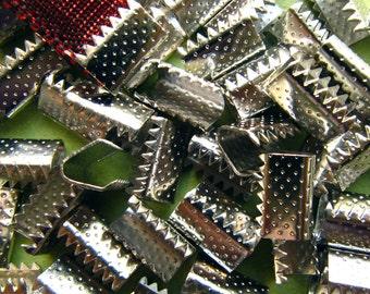 500 pcs. No Loop 10mm Ribbon Clamps -- Silver