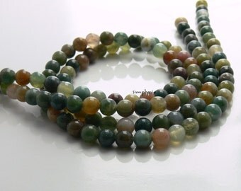 Fancy Jasper Gemstone Beads 6mm Round Full Strand