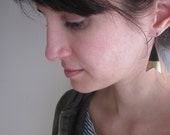 Gold-dipped arrowhead ecofriendly bike tube earrings
