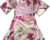 KIMONO DRESS - Spring Sakura- sizes 0 through 10 years - baby girls toddler easter dress