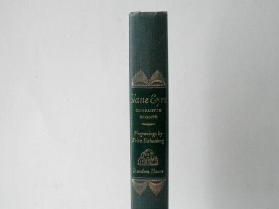 Vintage Jane Eyre, Charlotte Bronte, Classic Literature, English Literature, Vintage Hardcover