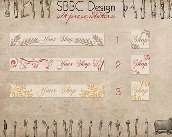 Shop Banner Avatar Starter Pack Floral Minimal