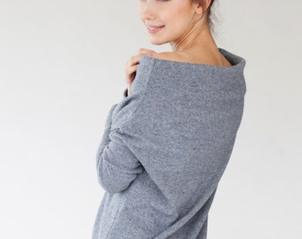 Gray sweater | Wool sweater | Warm sweater | LeMuse wool sweater