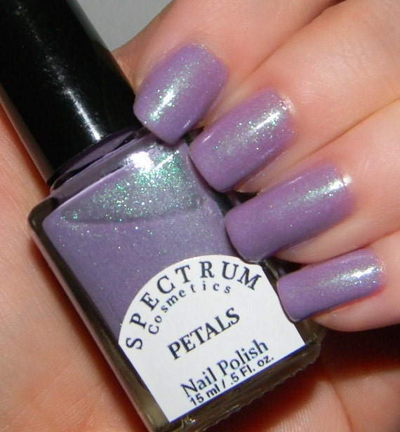 PETALS Pastel Purple Nail Polish by SpectrumCosmetic on Etsy