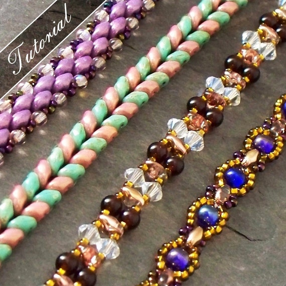 beading tutorial pack easy straps using duos step by