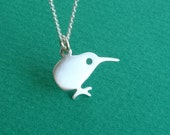 Kiwi Necklace Bird Necklace Small Kiwi Pendant Sterling Silver Kids Teen  Jewelry  New Zealand Bird Charm bird  pendant   charm