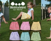 Any color Infant/toddler Chevron Girls Skirt High Waist any color size 0-3 through 5T SALE