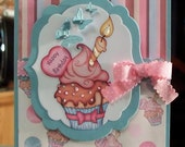 Happy Birthday Cupcake Card using Paper Shelter Stamp
