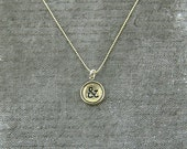 Ampersand Necklace - Silver Initial Typewriter Key Charm Necklace - Gwen Delicious Jewelry Design 010