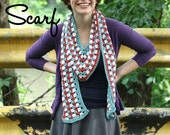 Crochet Scarf pattern -- County Fair Scarf --instant download