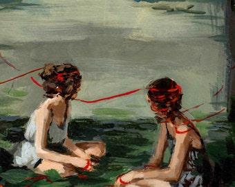 Red Ribbon . giclee art print