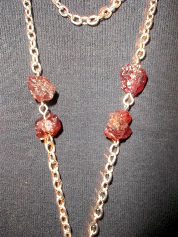 Bike Don't U Just Luvzit Raw Garnets by LuvZiT on Etsy
