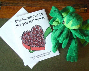 Cthulhu Love Card - Say I Love You with Lovecraft - Anatomical Heart Greeting Card