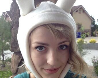 Handmade Fleece Adventure Time Fionna the Human Inspired Bunny Rabbit Hat