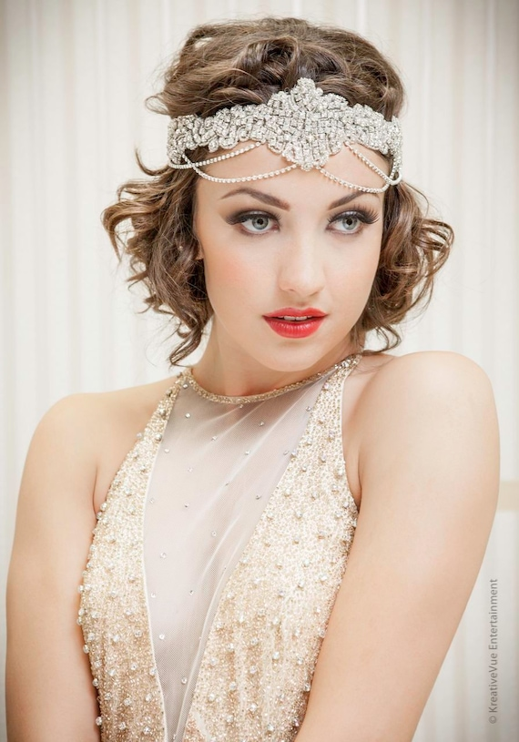The GREAT Gatsby Headband Inspired Collection 1920s Flapper Applique ...
