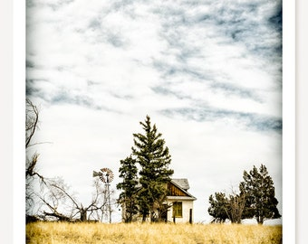Hideaway - Old Farm House Photograph - Abandoned House Photo - Rustic Farmhouse Decor  - Colorado Art