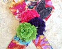 Tie Dye Diva. Head Wrap Head Band Tie Headband Hot Pink Turquoise Lime Green Jade Purple Yellow Tie Dye Headwrap Tichel Accessory Headcover