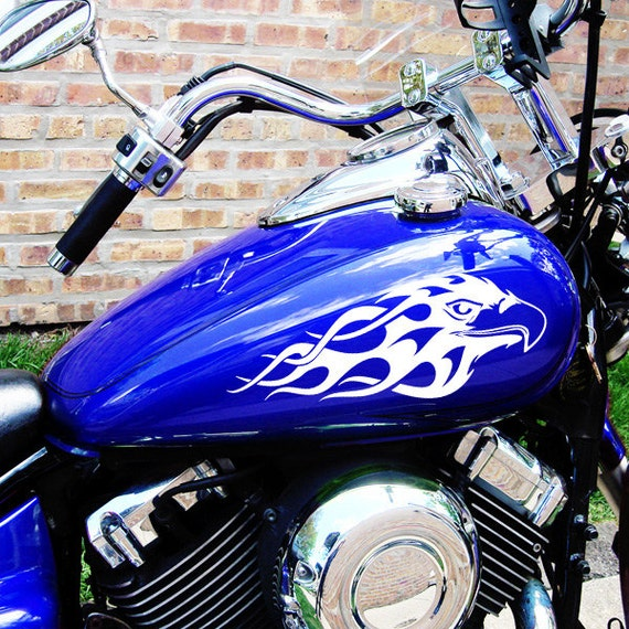 Flaming Eagles Decal Set Flame Eagles Motorcycle Stickers
