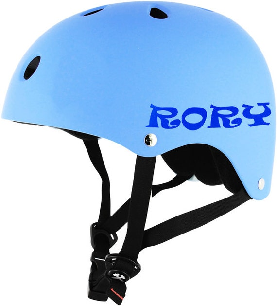 Personalized Name Reflective Decal Single Custom Name Helmet - Custom reflective helmet decals
