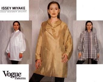1990s ISSEY MIYAKE Oversized Top Pattern Vogue Designer Original 2922 Sewing Pattern Size 6 8 10 UNCUT Factory Folded