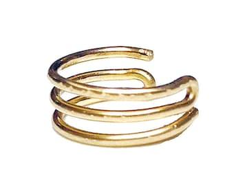 Trio Ear Cuff Wrap Silver or Gold