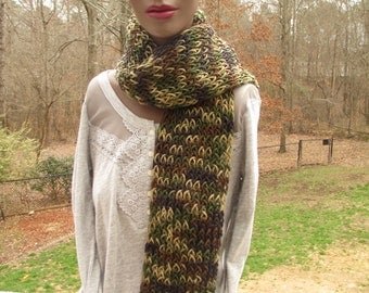 free shipping, mens scarf, mans scarf, cameo, cameo scarf, cameo scarves, long scarf, long scarves, hand knit, hand knit scarf, green scarf