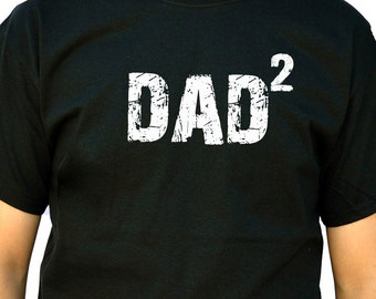 Dad Gift DAD 2 T Shirt Mens t shirt Fathers Day Gift New Dad Funny T shirts Dad Shirt Papa Gift Father Shirt