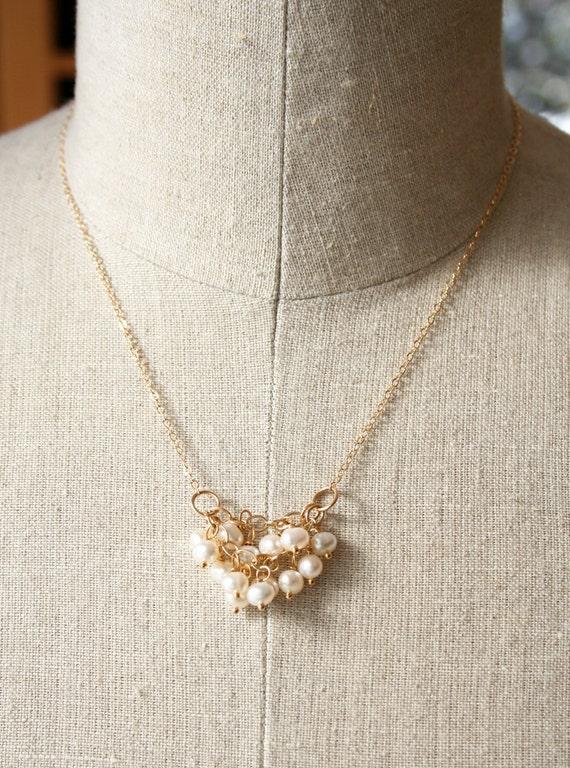 Pearl Bridesmaid Necklace, Wedding Jewelry