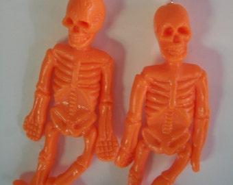Halloween Earrings, Skeleton Earrings, Flexible rubber Skeleton, 4 Colors, SALE, by Brendas Beading on Etsy