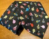 Vintage Men's Tie, Christmas, Black, Silk, Christmas, Tie, Christmas Ornaments, USA, Christmas, Holiday, Office, FREE US Shipping