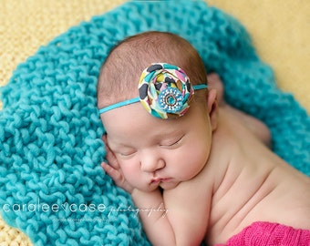 Candy Dots single rosette headband