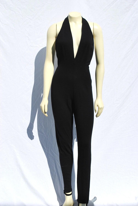 vintage 80's dkny jumpsuit romper suit sexy onepiece pant