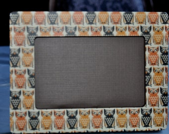 Black/Orange Owl 4x6 Picture Frame