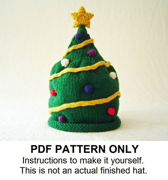 Knitted Sweater Patterns Free : Knitting Pattern Christmas Tree Hat Pattern the NICK Hat