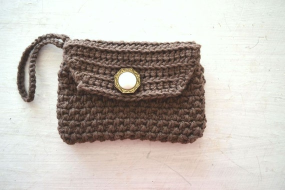 Crochet Wristlet Purse Pattern : Crochet Clutch Patten Mini Wristlet Purse PDF Instant Download Phone ...