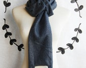 Charcoal Gray Cat Scarf