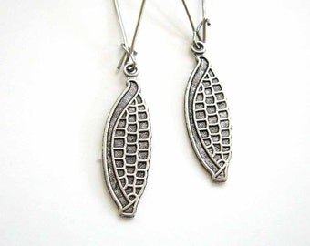 corn on the cob earrings . GBR Nebraska Cornhuskers jewelry . choose short or long . surgical steel earrings