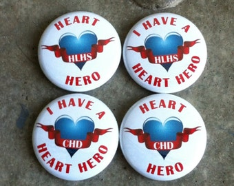"""2.25"""" Congenital Heart Defect (CHD) Awareness Fundraiser Buttons"""