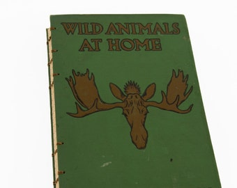 1913 WILD ANIMALS Vintage Lined Notebook Journal